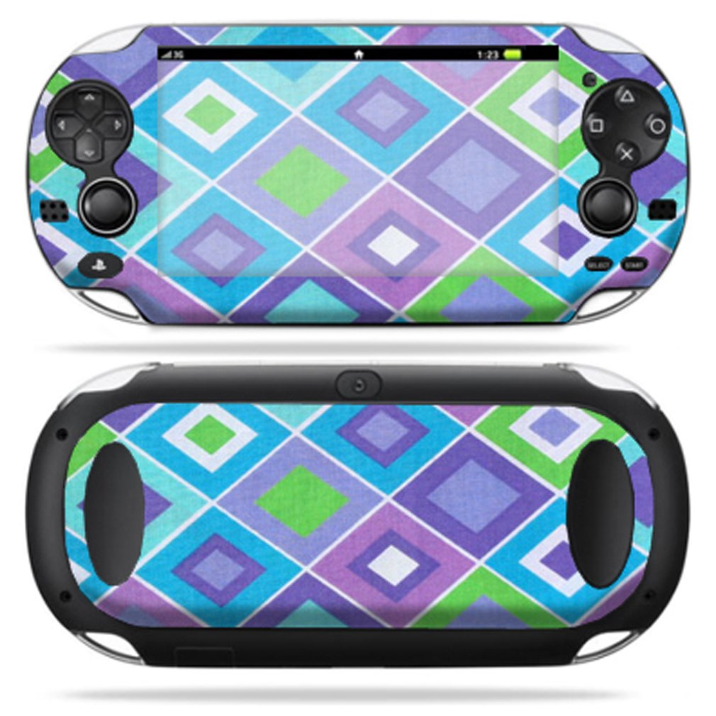Protective Vinyl Skin Decal Cover for PS Vita PSVITA Playstation Vita Portable Sticker Skins Pastel Argyle sex babe vinyl decal skin sticker for xbox360 slim with 2 controller skins