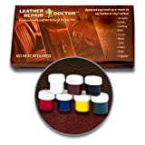 Leather Repair Doctor Complete DIY Kit | Premixed ALL-IN-ONE Professional Restoration Solution | Match ANY Color, No-Heat Fast Drying | Sofa, Couch Chairs, Car Seats, Jacket, Boots, Belts, Purses