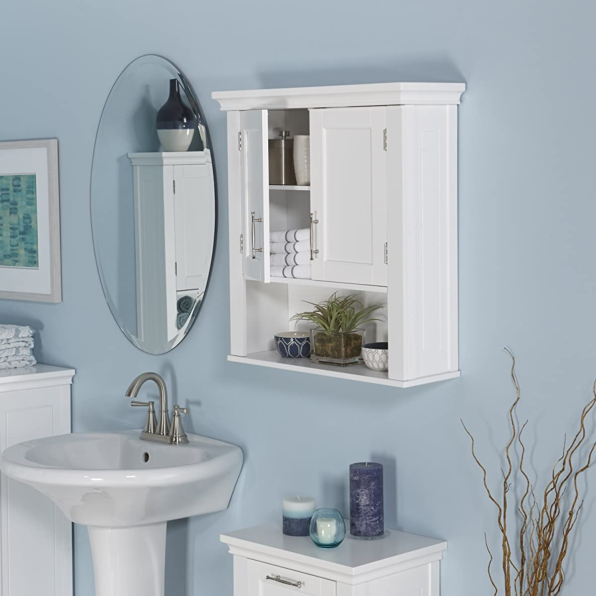 RiverRidge Home Somerset Wall Cabinet, White