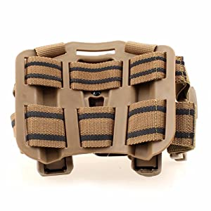 LIVIQILY Tactical Glock Leg Holster Left Hand Paddle Thigh Belt Drop Pistol Gun Holster w/Magazine Torch Pouch for Glock 17 19 22 23 31 (Tan) (Color: Tan)
