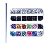 3D Nail Art Decorations Rhinestone Sets, 3D Colored Rhinestones, Sliver And Black Rhinestones, One Picker Pencil