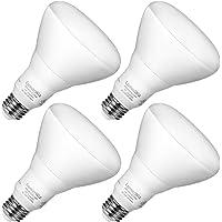 4-Pack Luminwiz 9W 2700K Dimmable Flood LED Bulbs (White)
