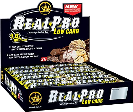All Stars Realpro Low Carb Bar, Peanut, 24er Pack (24 x 50 g)