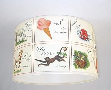 abat jour fait main 20cm 20cm cavallini abc 2 alphabet cuisine alphabet cuisine maison. Black Bedroom Furniture Sets. Home Design Ideas