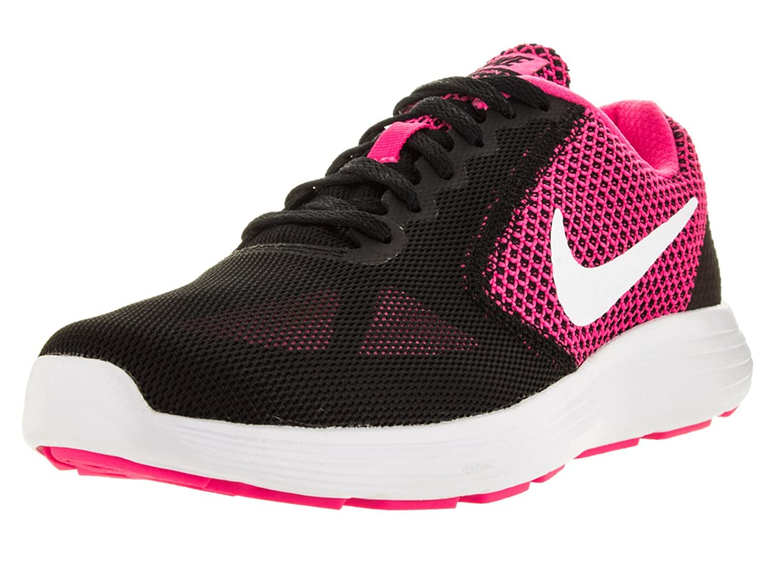 Nike Women's Revolution 3 Running Shoe - Black And Pink