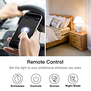Smart Dimmer Switch, Treatlife WiFi Light Switch for Dimmable LED/Halogen/Incandescent Bulbs, Compatible with Alexa, Google Assistant/IFTTT, Remote Control, Single-Pole, Neutral Wire Required (Color: Single)