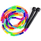 K-Roo Sports Rainbow 7-Feet Jump Rope with Plastic Beaded Segmentation