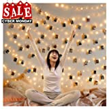 50 LED Photo Clip Lights String Lights Battery Powered 17.1 Ft Wall Decoration Lights for Home/Party/Christmas Decor Hanging Photos Paintings Pictures Card and Memo