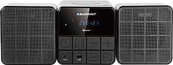 Blaupunkt MS10BT Micro Hifi avec lecteur CD / MP3 / USB / Bluetooth (avec écran LCD rétro-éclairage) noir
