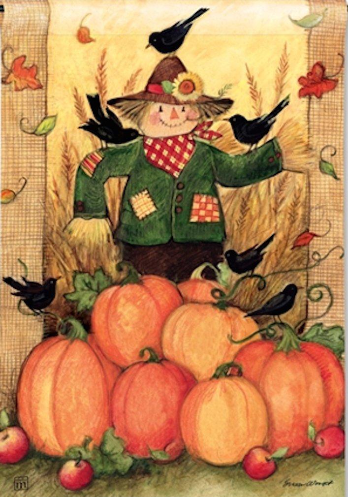 fall garden flags. Thanksgiving Scarecrows Garden Flags Fall