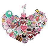 Cute Stickers 110 pcs, Girl Cool Funny Vinyl Decals Sticker for Water Bottles Kids Skateboard Snowboard Laptop Motorcycle Car - Lovely Fun Aesthetic Waterproof Stickers Pack (Color: E)