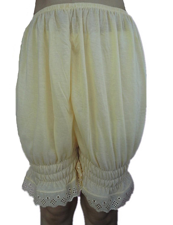 Frauen Handgefertigt Halb Slips UL3CIV IVORY Half Slips Cotton Women Pettipants Lace