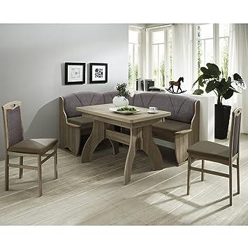 Eckbank Eckbankgruppe Essgruppe COMO Essecke Tisch 2 Stuhle Sonoma Eiche