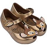 Mini Melissa Girls' Mini Ultragirl + Bambi Ballet Flat, Gold, 12 M US Little Kid (Color: Gold, Tamaño: 12 M US Little Kid)