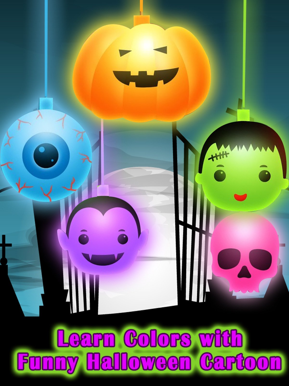 Learn Colors with Funny Halloween Cartoon