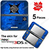 Monster Hunter Generations X Blue Edition Skin Sticker Cover for NEW 3DS XL