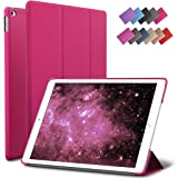 ROARTZ iPad Air 2 Case, Magenta Slim Fit Smart Rubber Coated Folio Case Hard Shell Cover Light-Weight Auto Wake/Sleep for Apple iPad Air 2nd Generation A1566/A1567 Retina Display (Color: Magenta, Tamaño: 12.6x8.7x0.5inches)