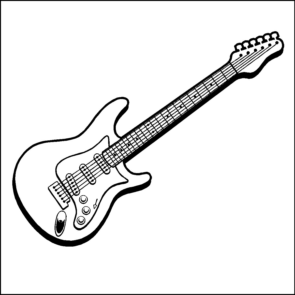 eletric guitar coloring pages - photo#7