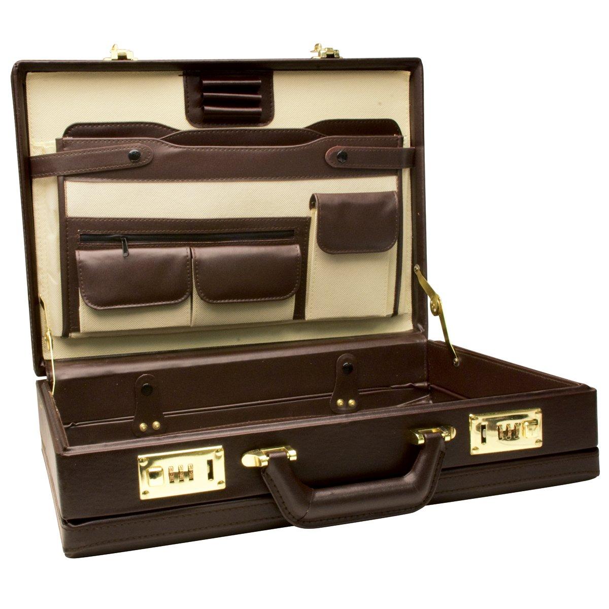 Briefe Case : Vintage men s leather business bag briefcase messenger