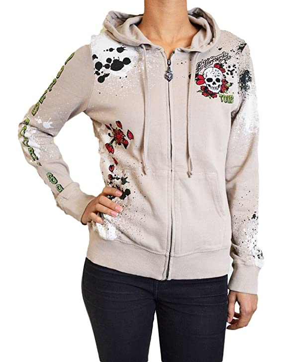 Ed Hardy Christian Audigier Women's World Tour 1969 Hoodie