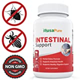 Intestinal Support for Humans (NON-GMO & Gluten free) with Wormwood, Garlic, Black Walnut Hull & More: 60 Capsules - 100% Money Back Guarantee - Order Risk Free!