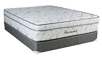 "Continental Sleep Mattress, 13-Inch Orthopedic Pillow Top Queen Size Mattress  with 5"" Split Box Spring ,Mercedes Collection"