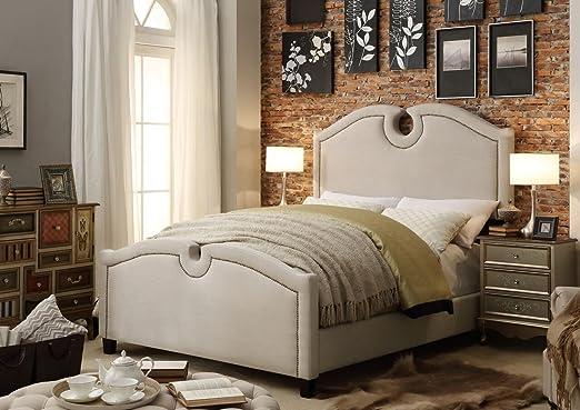 Millbury Home Eilo Beige Upholstery Bed