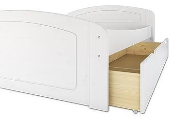 60.50-20 W oR Bett weiss 200x200 Kiefer massiv (ohne Zubehör)