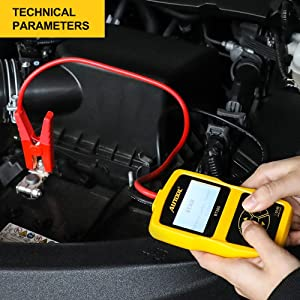 Car Battery Tester Automotive Battery Analyzer for Regular Flooded,Auto Cranking and Charging System Diagnostic Analyzer Cover All 12V Vehicles,Boat (Tamaño: Battery Analyzer)