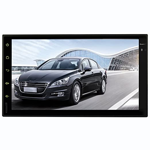 YINUO 2DIN Quad Core 16GB 1024*600 Android 5.1.1 Universal sat nav GPS Navigation with Bluetooth, Touchscreen, USB/SD-function and support DVB-T-BOX