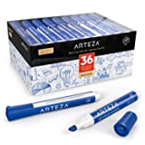 ARTEZA Dry Erase Markers, Bulk Pack of 36 (with Chisel Tip), Blue Color with Low-Odor Ink, Whiteboard Pens is perfect for School, Office, or Home (Color: Blue, Tamaño: Pack of 36)