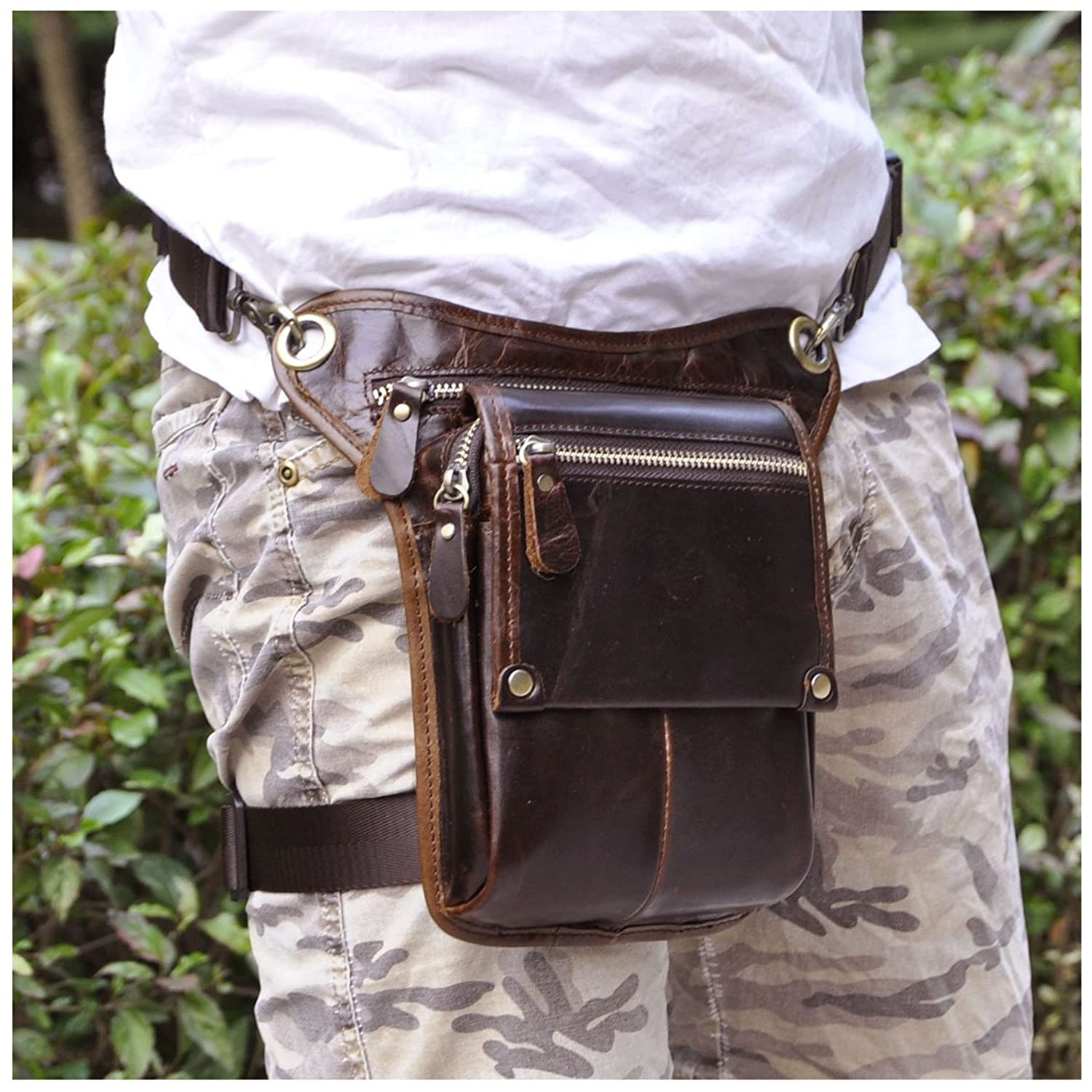 Leather Hip Bag Hip Bum Pack Drop Leg Bag