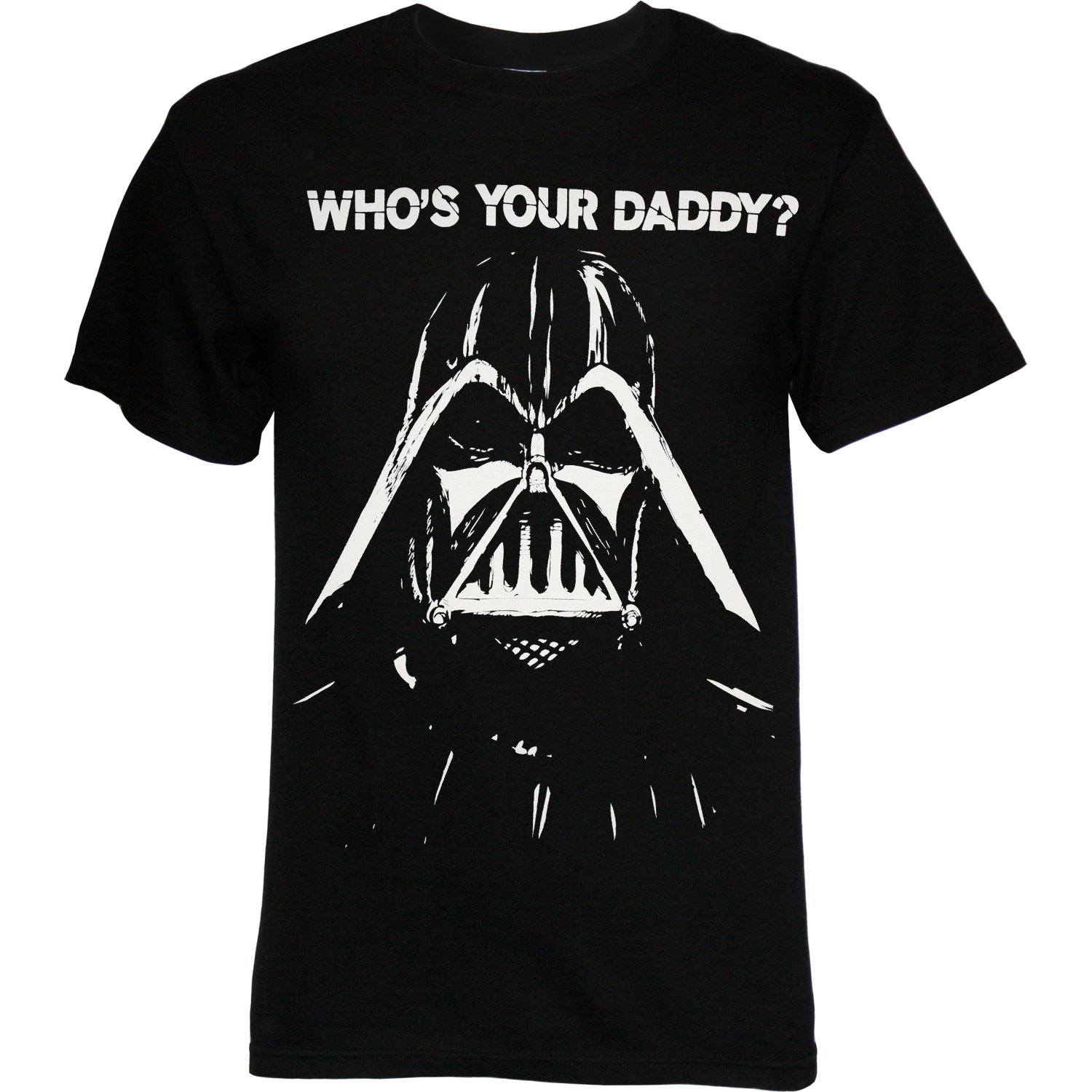 sale darth vader xl who 39 s your daddy black white star wars funny tshirt shirt ebay. Black Bedroom Furniture Sets. Home Design Ideas