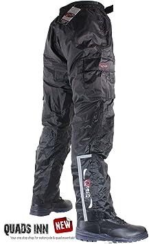 Surpantalon / Pantalon D'hiver de Moto - Imperméable, Thermique et Isolé - Livraison Gratuite - Noir - Jambe Régulière - XS - Taille 38