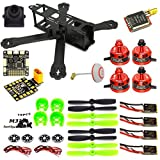 woafly LHI 220 Quadcopter Kit Full Carbon Frame Kit+DX2205 2300KV Brushless Motor+ Littlebee 20A Mini ESC+5045 propeller ARF
