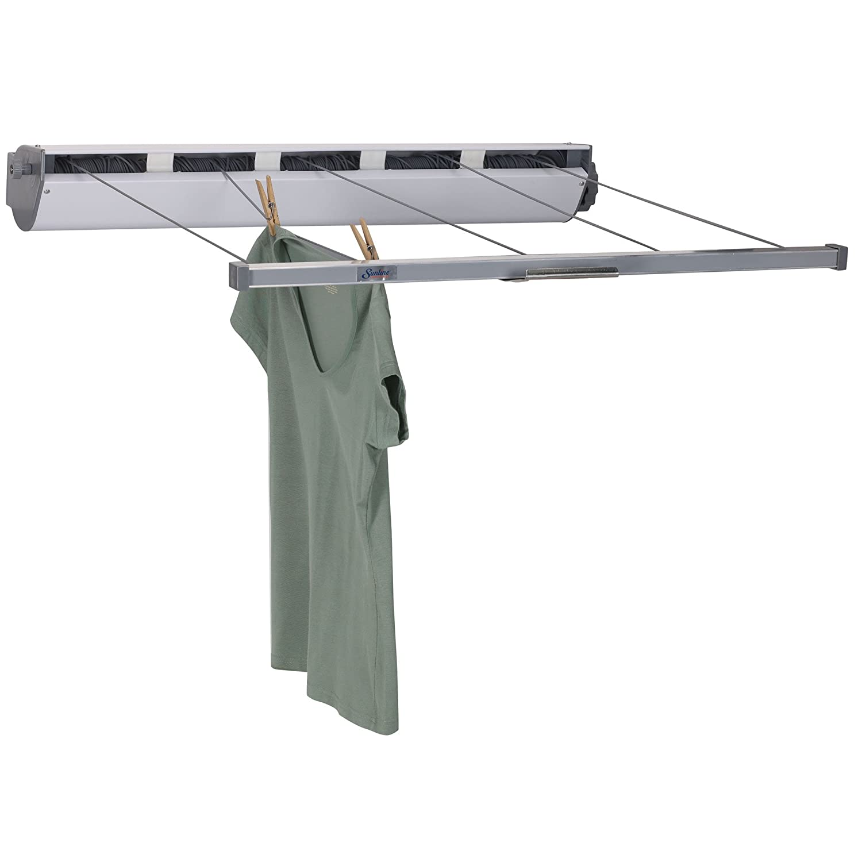 retractable clothesline indoor outdoor laundry dry clothes. Black Bedroom Furniture Sets. Home Design Ideas