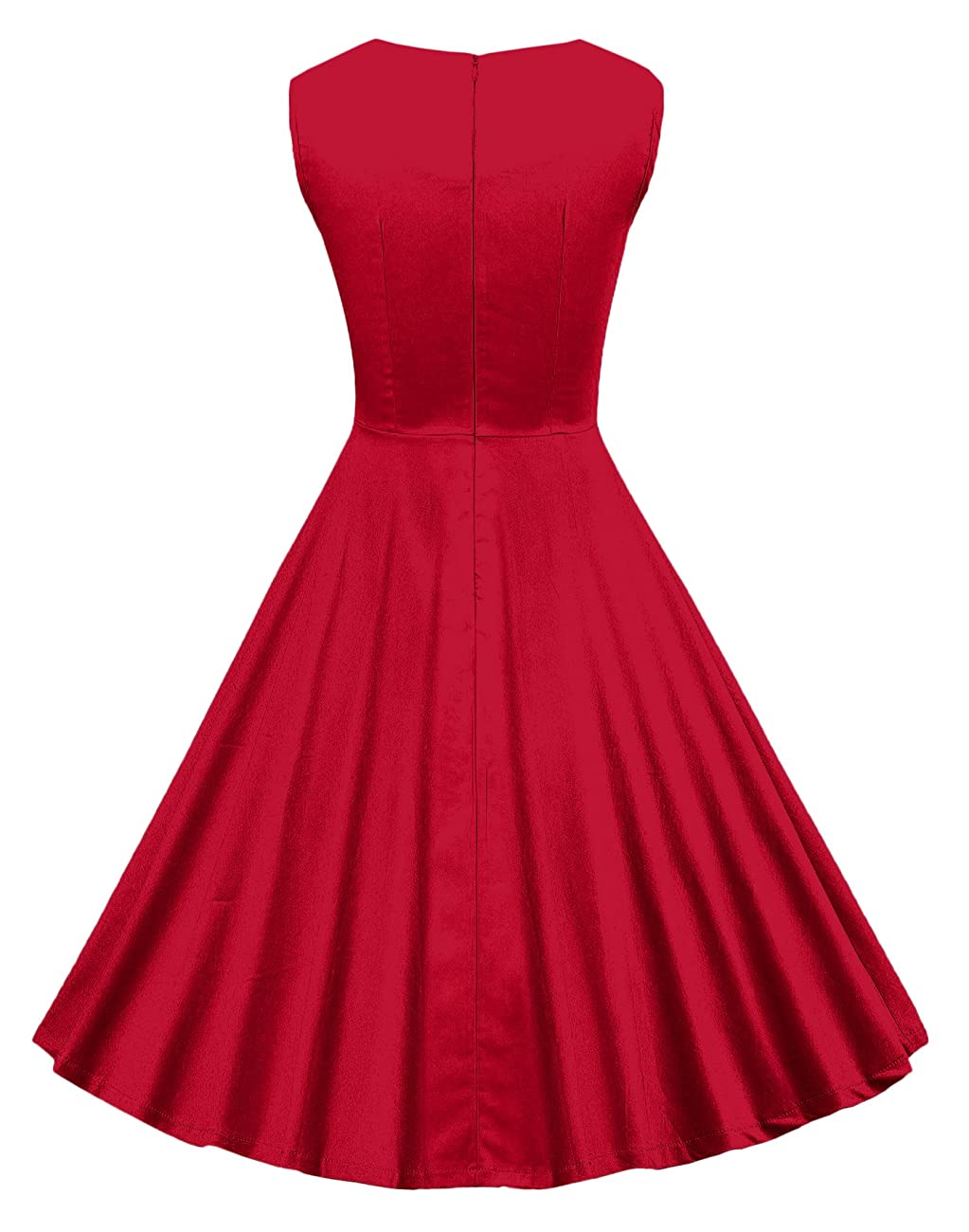 VOGVOG Women's 1950s Retro Vintage Cap Sleeve Party Swing Dress 1