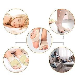 Bunion Corrector Bunion Relief Sleeve Kit Protector Train Pain for Big Toe Joint, Hallux Valgus, Hammer Toe Separators Spacer Straighteners Splint Aid