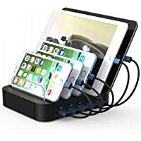 Kisreal USB Charging Station 5-Port Desktop Charging Stand