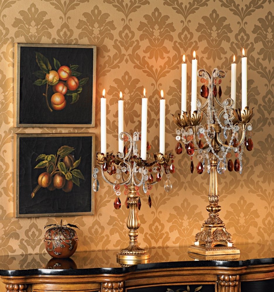 "French Taper 29"" High Droplets Candelabra"