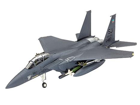 Revell Model Set - 63972 - Maquette - F15 E Strike Eagle & Bombs - gris - Échelle 1/144 - 70 pièces