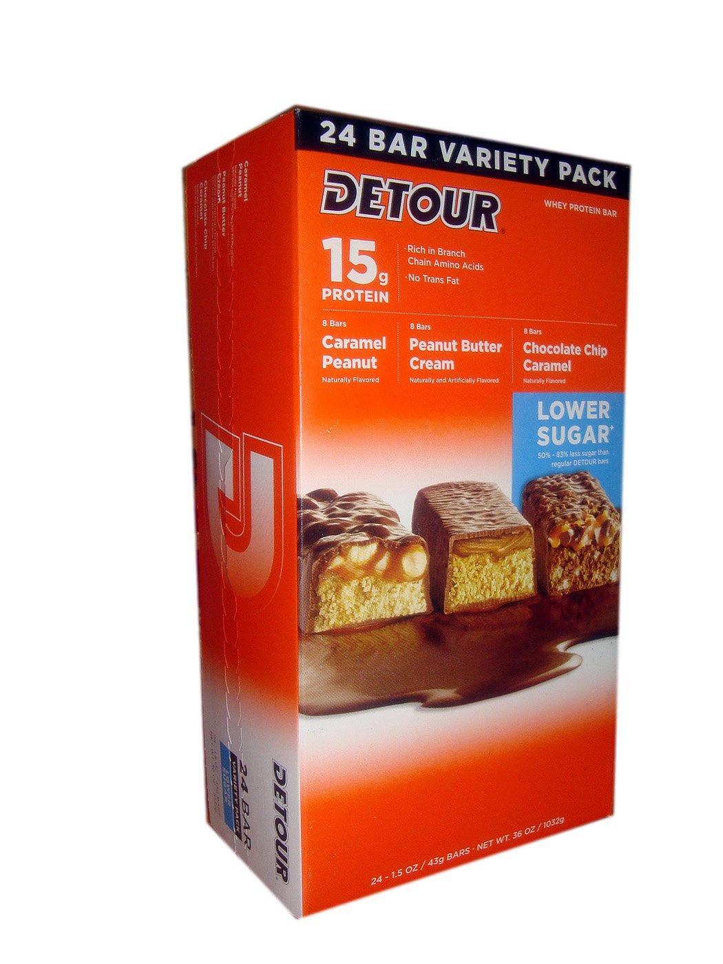 Detour lower sugar protein bars reviews