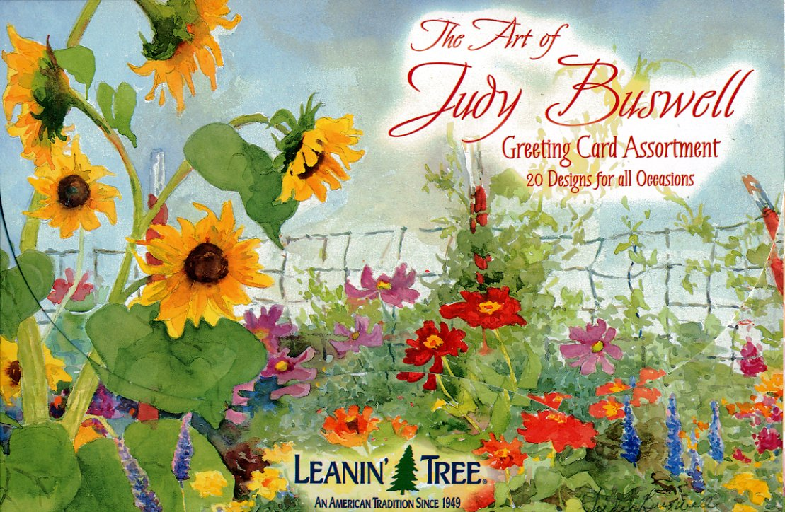The Art of Judy Buswell - Leanin' Tree Greeting Cards (AST90608) - 20 cards with full-color interiors and 22 designed envelopes 3d laser cut pop up greeting cards happy birthday postcards vintage chic retro peacock thank you gift message cards for girl