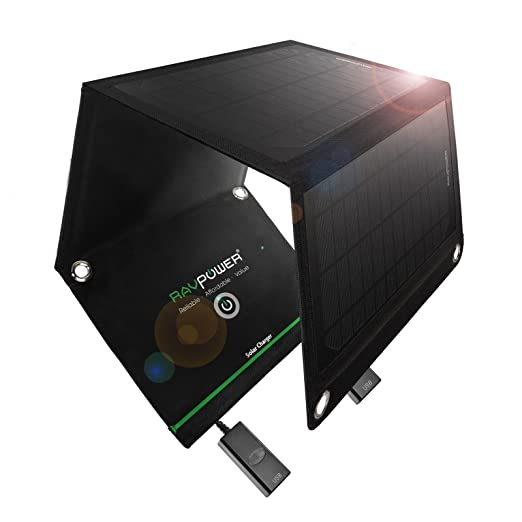 RAVPower 15W Foldable Solar Panel Portable Solar Charger