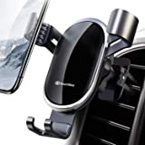 DesertWest Car Mount for Cell Phone, Universal Gravity Sensor Smartphones Holder for Car Air Vent, Easy to Install & Securely Holds iPhone XR XS 11 pro max 8 Samsung Note 10+ S10+ S9 S8 LG, Google (Color: black)