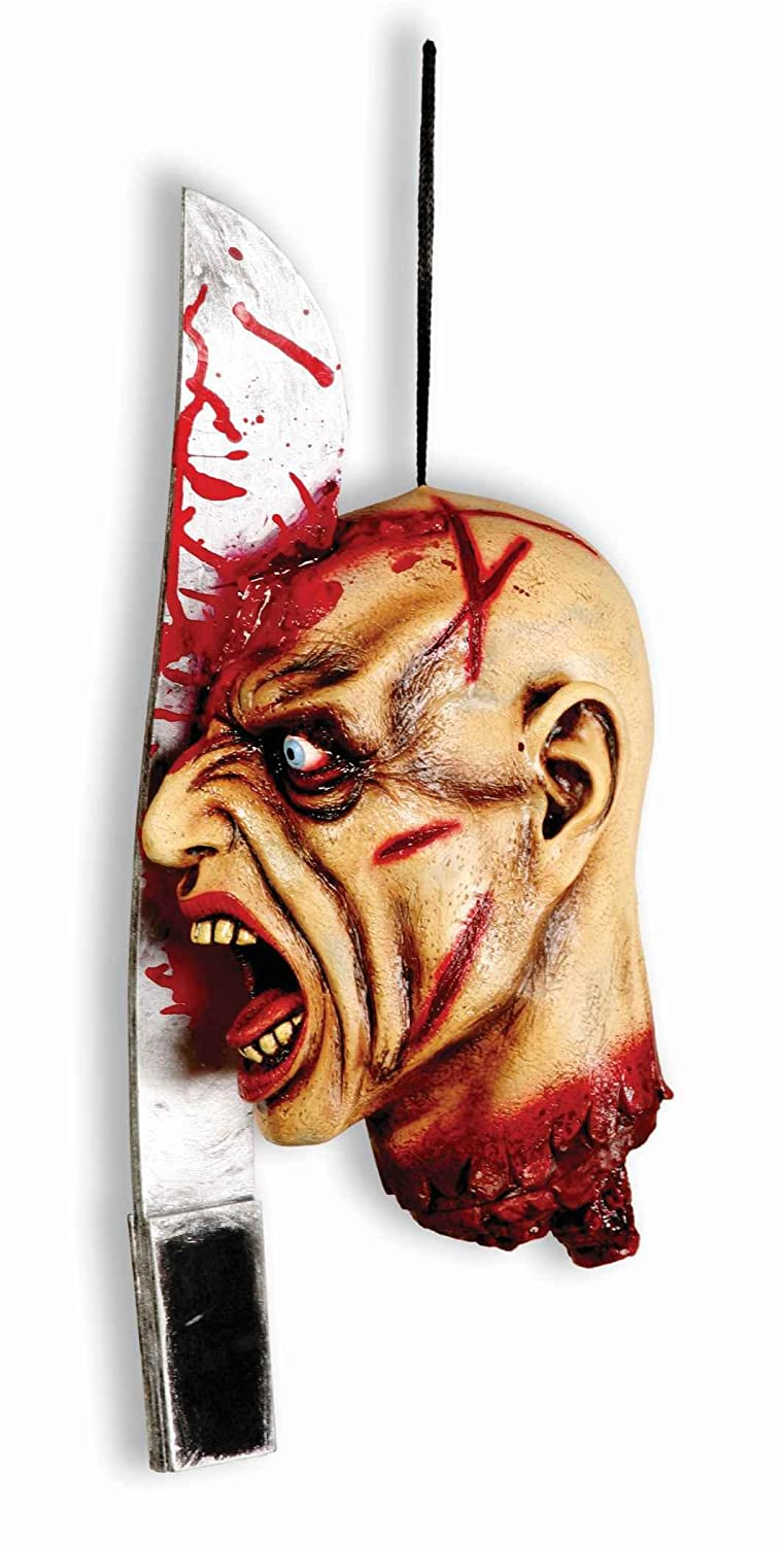 Forum Novelties Splitting Headache Zombie Hanging Property, Multicolored forum novelties men s teenz unisex costume toga