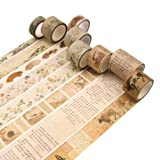 6 Rolls Masking Tape Set Chinese Element Decorative Craft Tape Collection for DIY and Gift Wrapping with Colorful Designs and Patterns (Color: Chinese Art, Tamaño: 6 Pcs)