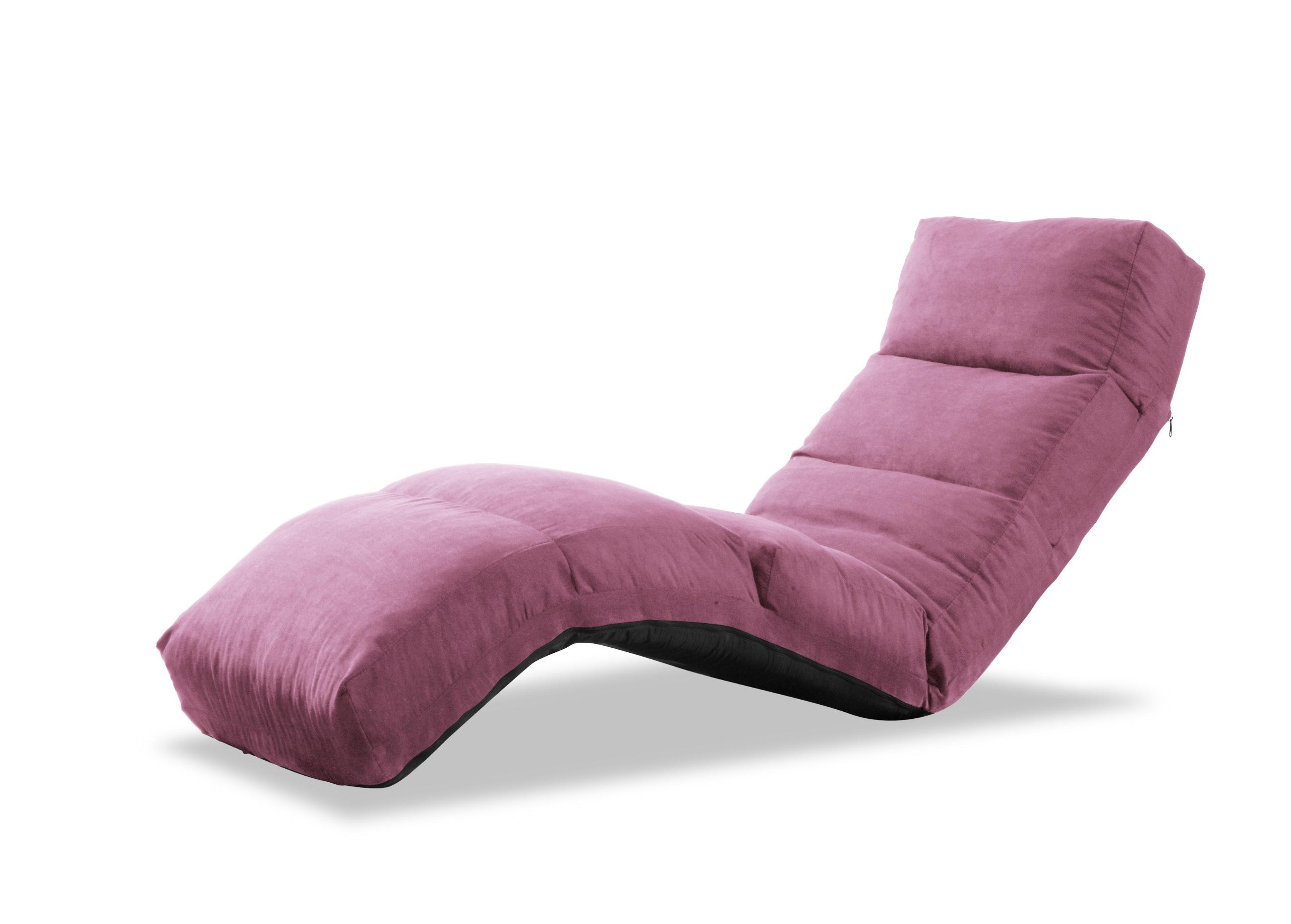 LifeStyle Solutions Jet Curved Chair Chaise Lounge Pink FurnitureNdecor