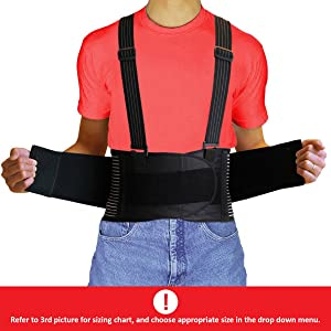 AidBrace<sup>™</sup> Back Brace Support Belt width=