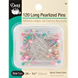 Dritz Long Pearlized Pins - 1-1/2